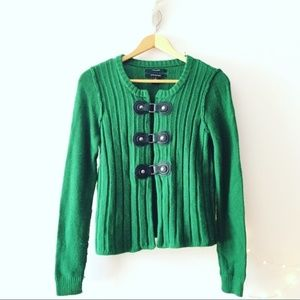 Tahari Jade Christmas Sweater With Buckle Front